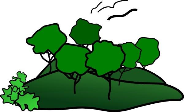600x365 Landscape Mountain Trees Clip Art Free Vector In Open Office