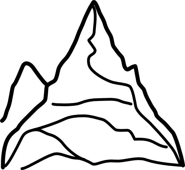 600x549 Mountain Clip Art