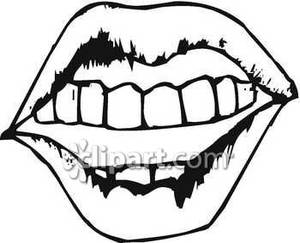 300x243 Mouth Clipart Black And White Clipart Panda