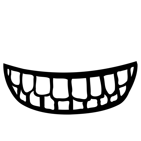 600x600 Mouth Clip Art Black And White Free Clipart Images 3