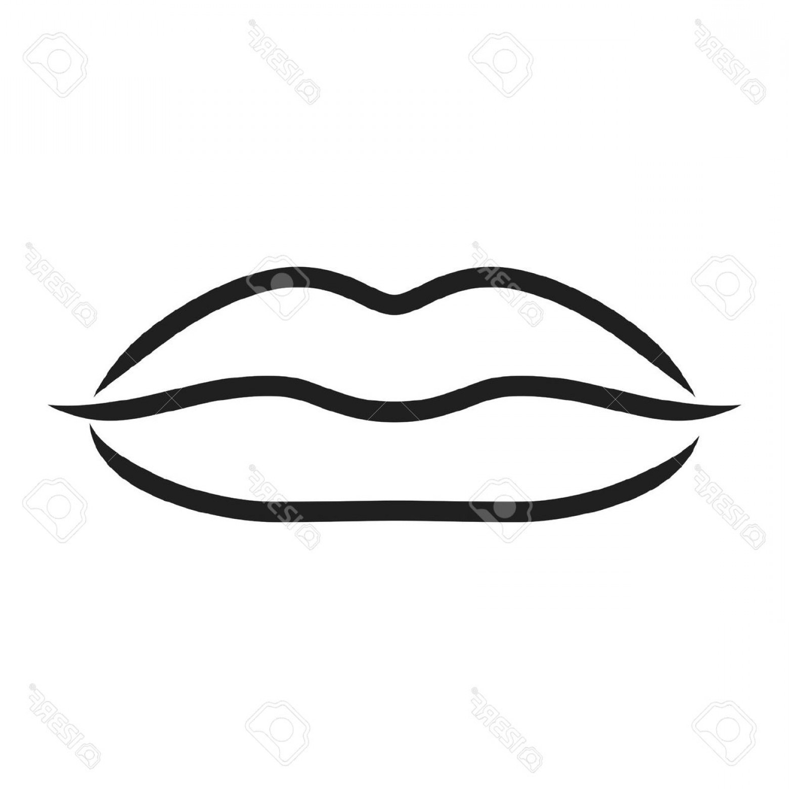 1560x1560 Mouth Black And White Clipart