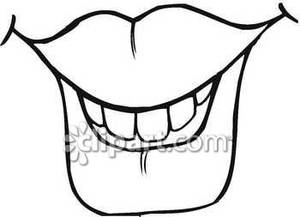 300x217 Mouth Clip Art Black And White Clipart Panda
