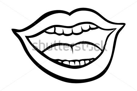 450x300 Open Mouth Cartoon Clipart