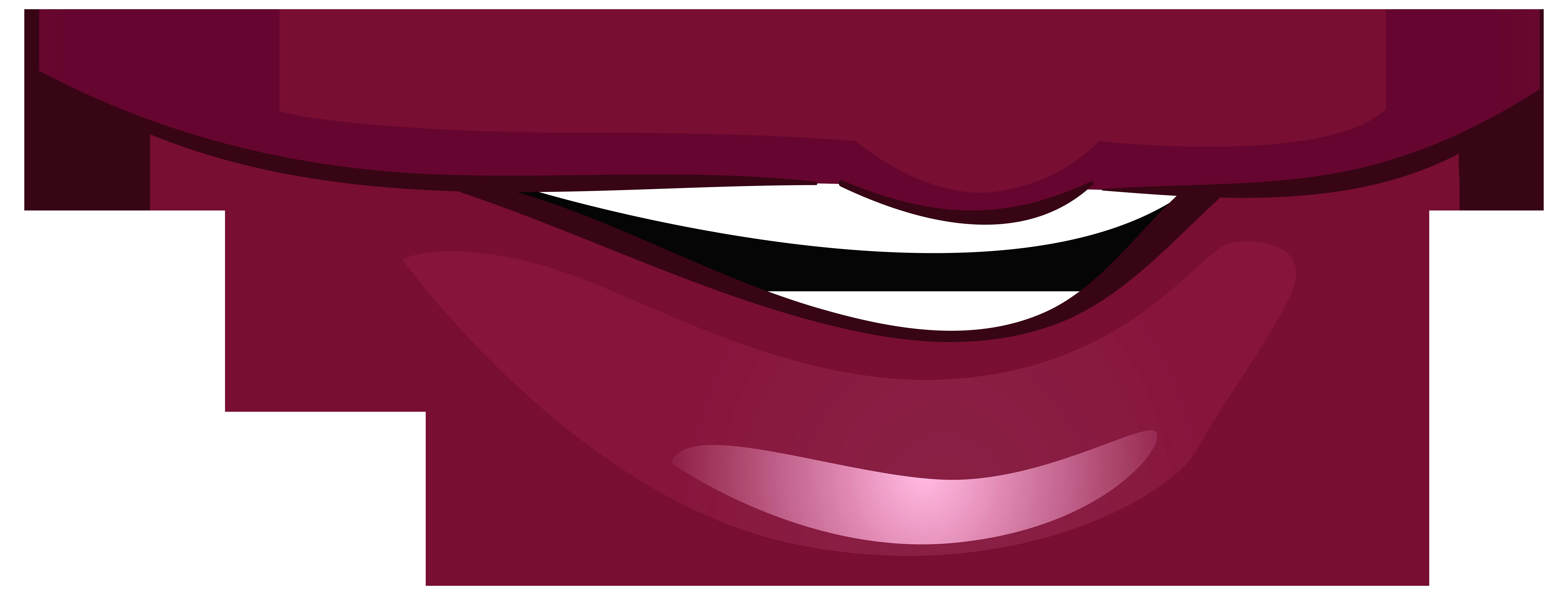8000x3039 Maroon Clipart Lips