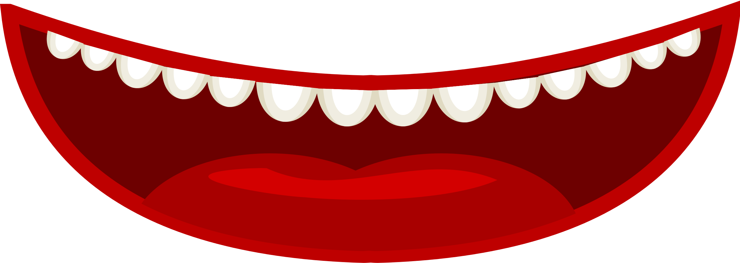 2400x853 Mouth Clipart 4