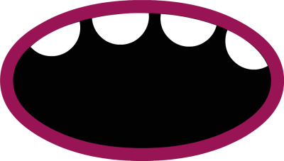 400x227 Fangs Clipart Mad Mouth