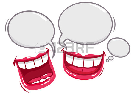 450x318 Two Mouths Talking And Laughing Royalty Free Cliparts, Vectors