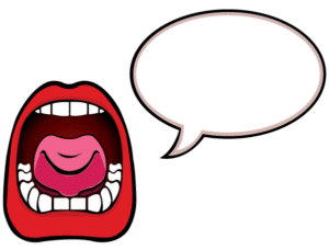 300x228 Free Clipart Mouth Speaking