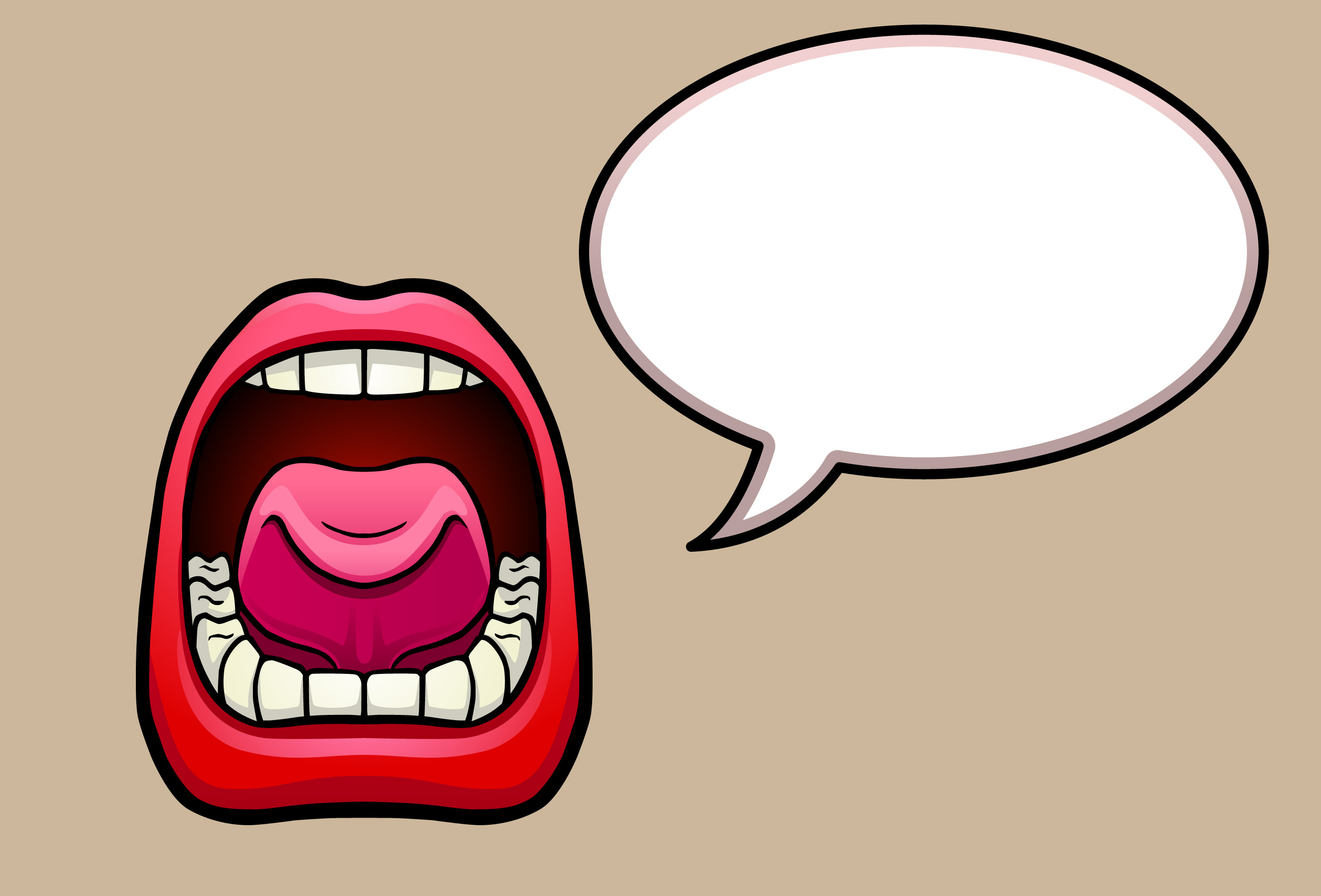 2800x1900 Clipart Speaking Mouth Collection
