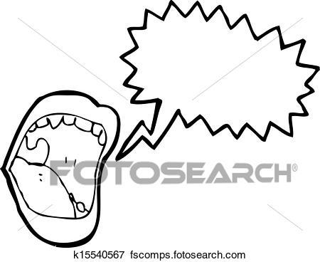 450x368 Clip Art Of Shouting Halloween Mouth Cartoon K15540567