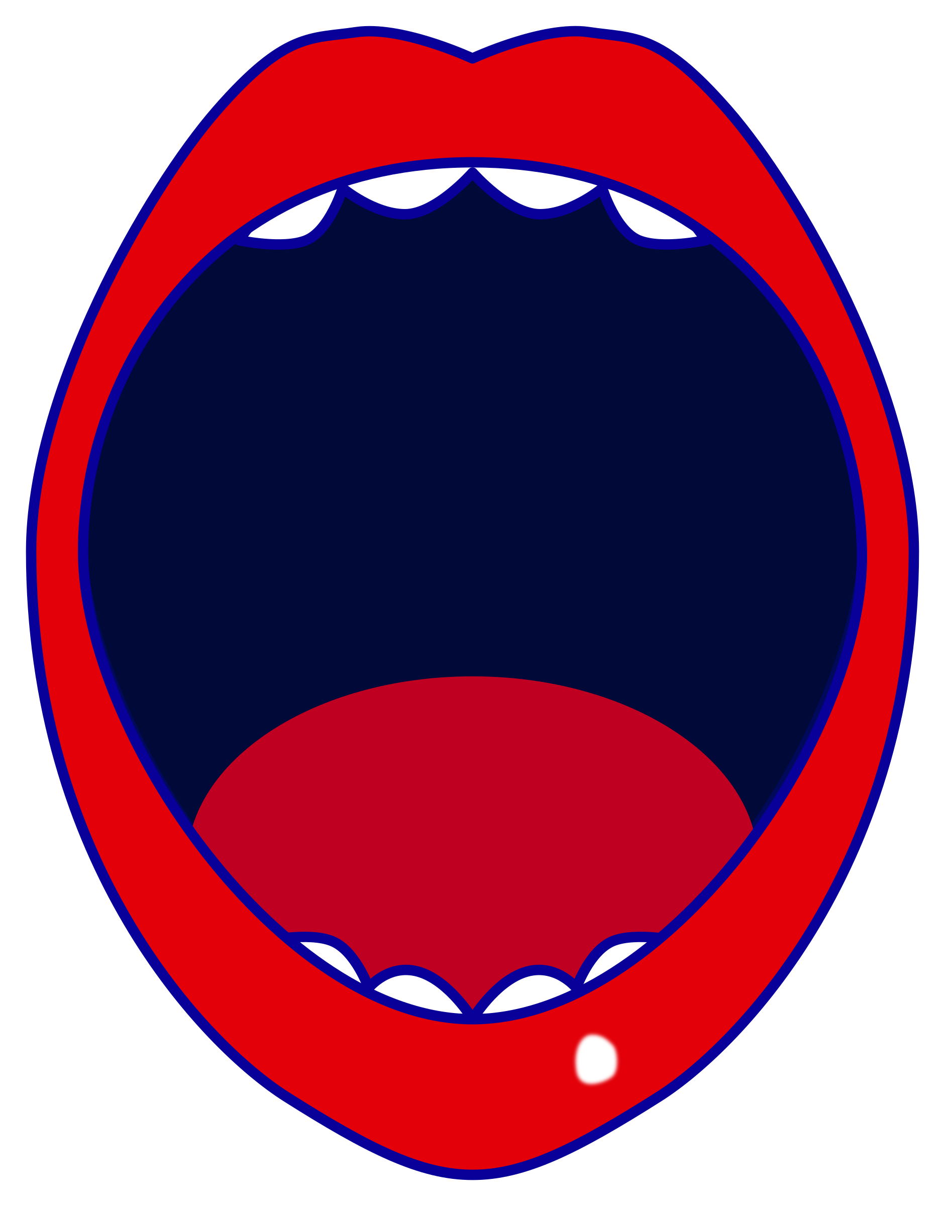 1881x2400 Clipart Red Open Mouth