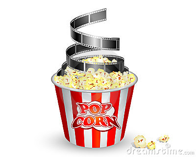 400x320 Movie And Popcorn Clipart