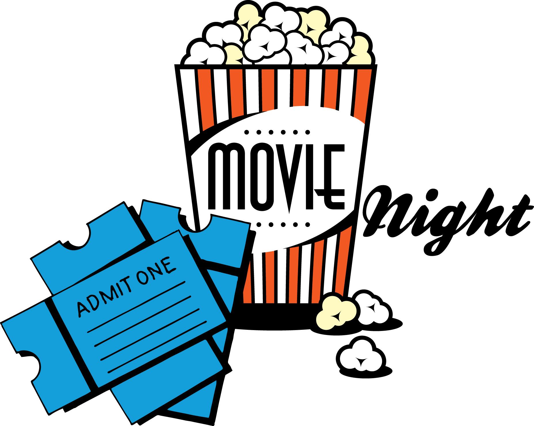 1855x1479 Movie Night Clip Art