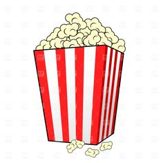 236x236 Free Cartoon Graphics Fair Food Popcorn Clip Art