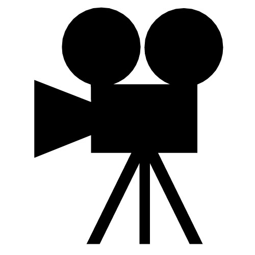 500x500 Movie Camera Clip Art