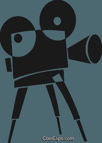 343x480 Movie Camera Royalty Free Vector Clip Art Illustration Vc028230