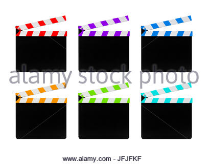 407x320 Color Clapper Board Film And Film Production Icon Stock Vector Art