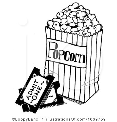 400x420 Movie Black And White Clipart