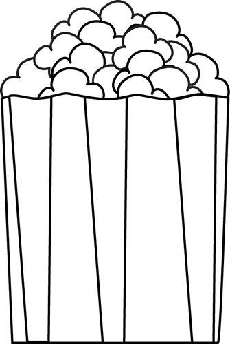 335x500 Movie And Popcorn Clipart Black And White Home Dayasrioki Top