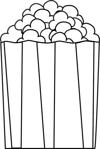 335x500 Popcorn Bucket Clipart Black And White