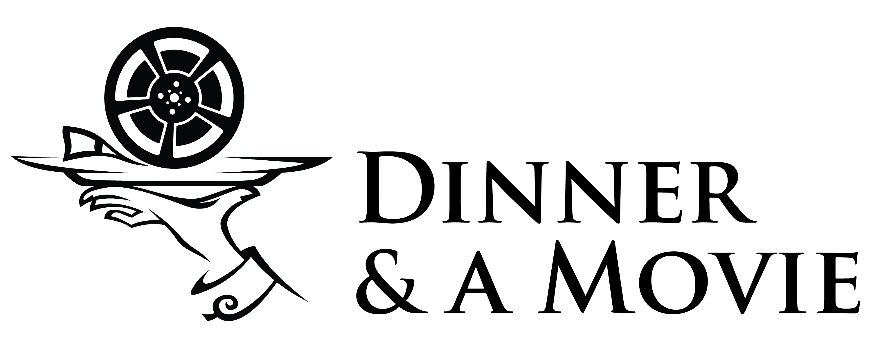 3000x1200 Dinner And A Movie Clipart