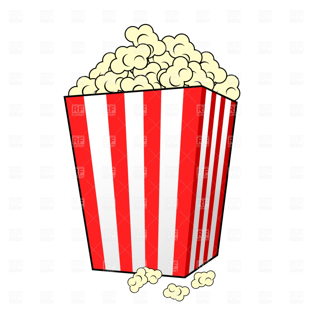 1200x1200 Movie Clipart Popcorn Container