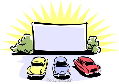 480x338 Drive In Movie Theatre Royalty Free Vector Clip Art Illustration