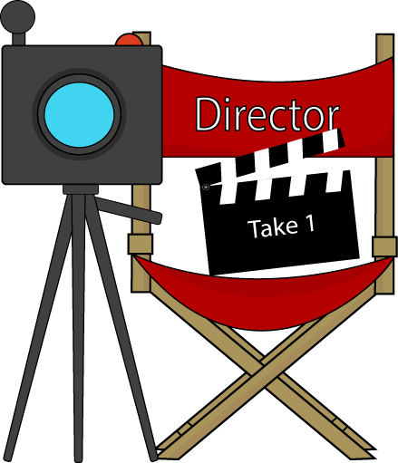 439x511 Movie Directors Chair And Camera Clip Art