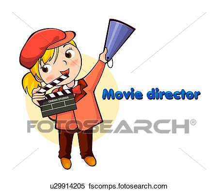 450x394 Stock Illustration Of Movie Director U29914205