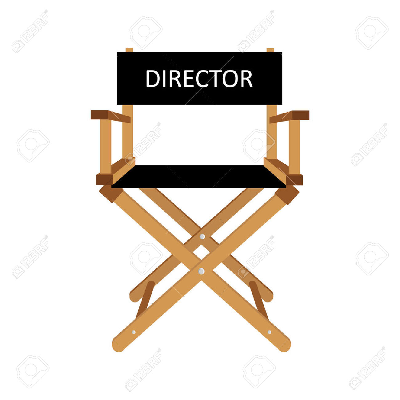 1300x1300 Theatre Clipart Director Chair