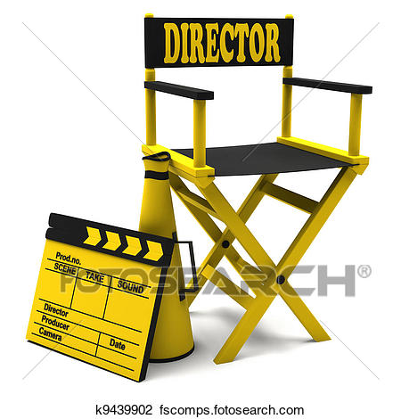 450x470 Clip Art Of Chair Director And Movie Clapper K9439902