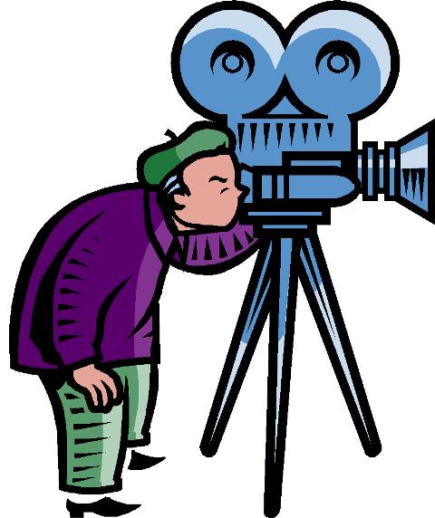 480x572 Movie Making Clipart
