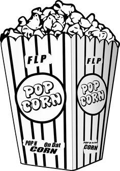 236x336 Popcorn Movie Reel Movie Night Svg Scrapbook Cut File Cute Clipart