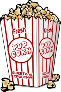 198x297 Clip Art A Movie Film Reel With A Bag Popcorn And A Cup