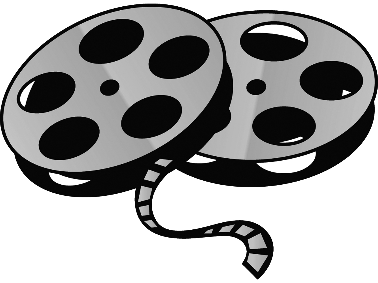 1600x1200 Reel Clipart Black And White