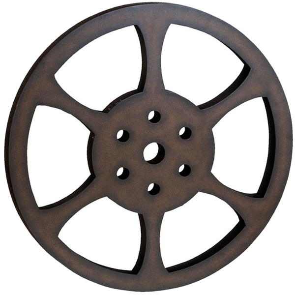 600x600 Hollywood 32 Inch Metal Film Reel Home Movie Theater Accent Decor