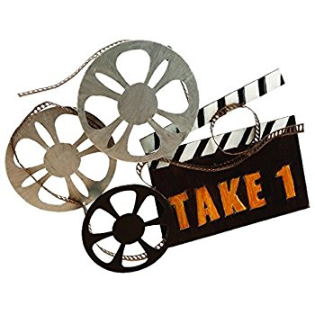 350x350 Home Theater Decor Movie Reel And Film Metal Wall Art