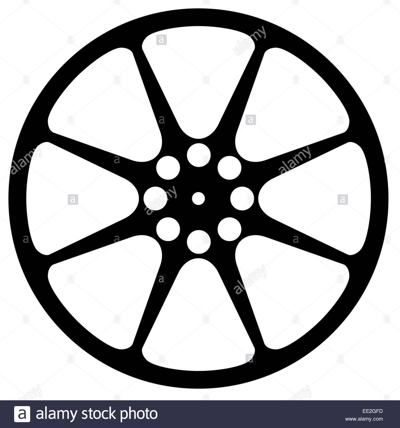 1300x1390 Cinema Movie Film Reel Silhouette Isolated Over A White Background