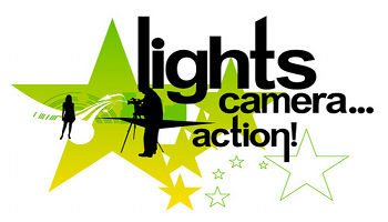 350x200 Lights Camera Action Clipart