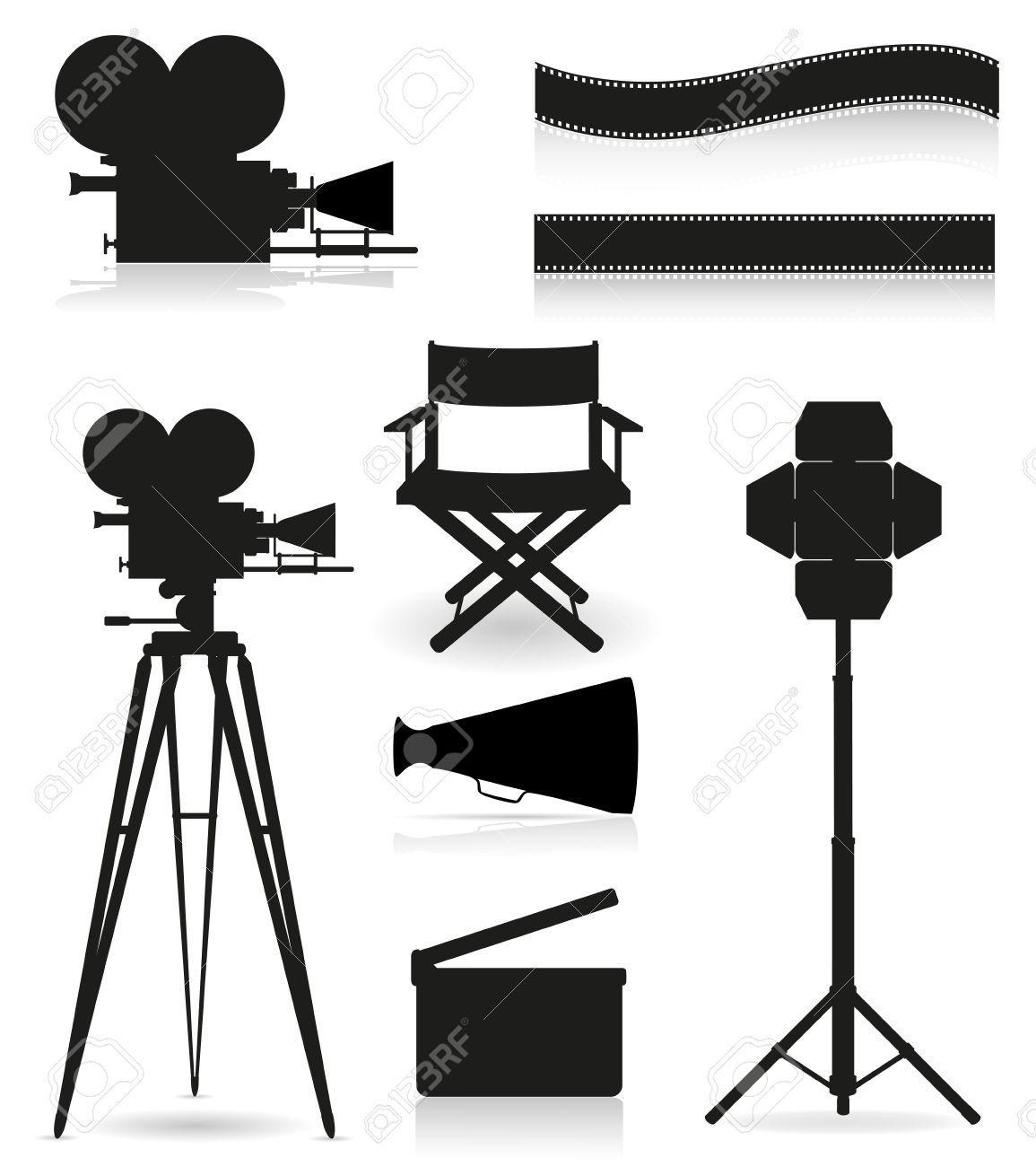 1155x1300 Lights Clipart Movie Set