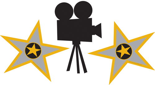 500x277 Movie Clipart Hollywood Camera