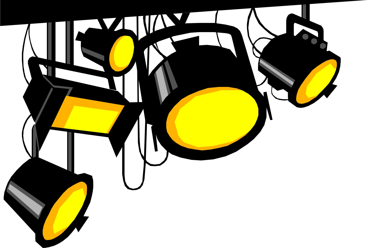 1500x1011 Movie Clipart Lights Camera