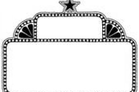 450x300 Marquis Theater Clip Art Black And White