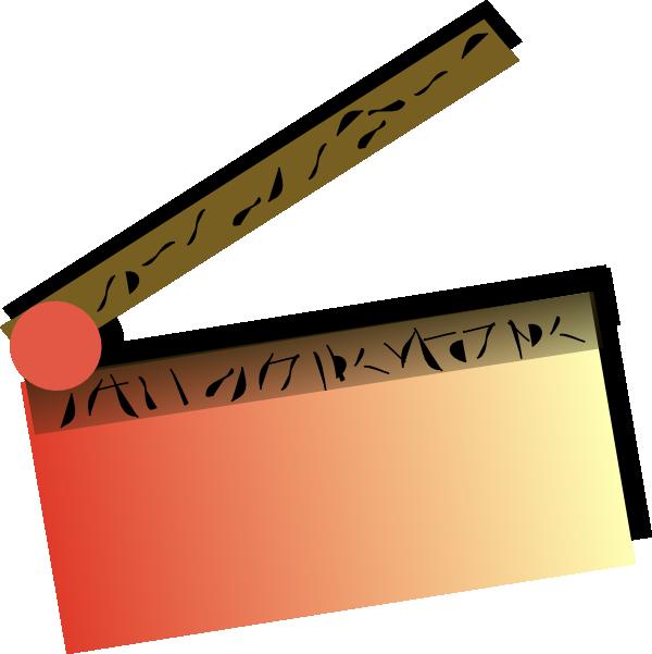 600x601 Movie Marquee Clipart