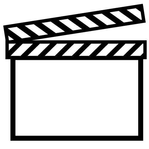 500x500 Movie Clipart Black And White