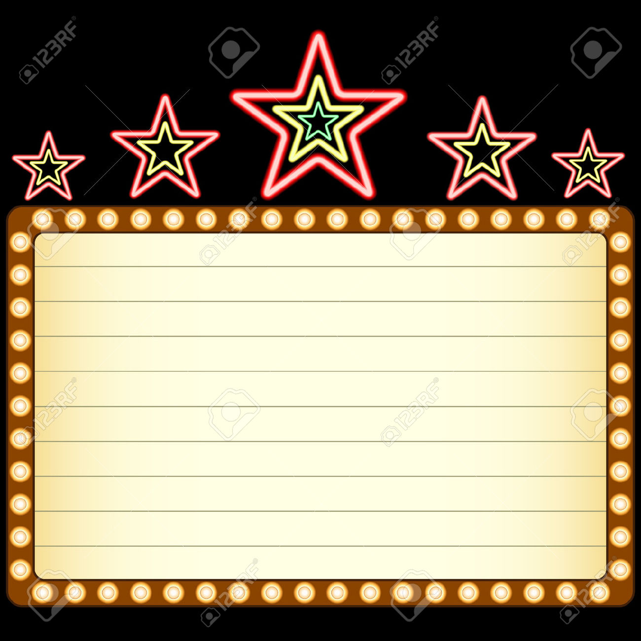 1300x1300 Movie Clipart Blank Movie Marquee