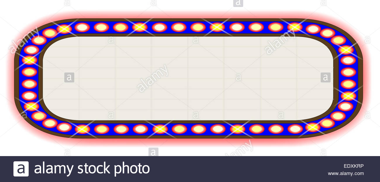 1300x625 A Blank Movie Theater Marquee Stock Photo, Royalty Free Image