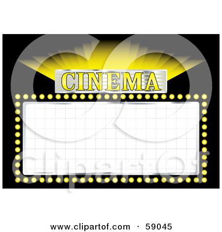 450x470 Sign Clipart Cinema