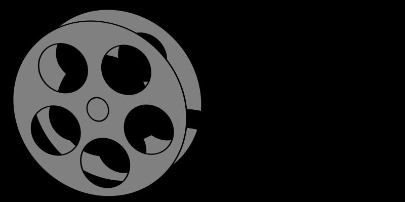 800x399 Black And White Movie Night Clipart