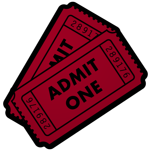 512x512 Movie Night Ticket Clipart